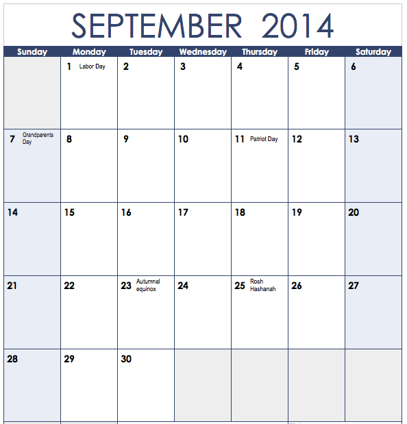 Free Monthly Calendar 2014 Template Images & Pictures - Becuo
